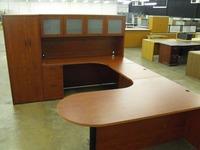 Cherryman Furniture Amber Bullet U Desk W Hutch And Wardrobe