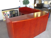 Used Office Desks Mayline 6x7 Reception Desk