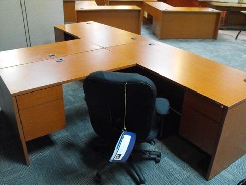 Used Office Desks HON L Shape Desk